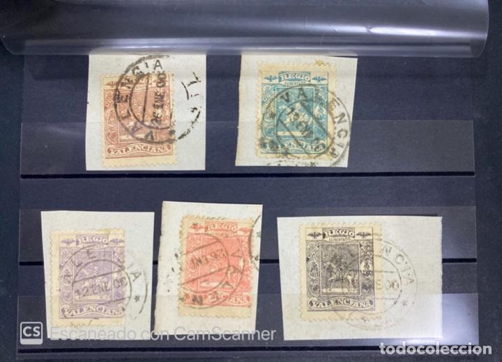 ESPAÑA. UNION PATRIA REGIA VALENCIANA. 5 SELLOS. VER FOTOS. (Sellos - España - Alfonso XIII de 1.886 a 1.931 - Usados)