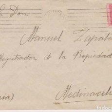 Sellos: AÑO 1922 EDIFIL 317 ALFONSO XIII SOBRE MATASELLOS VALENCIA A MEDINACELI. Lote 210635876