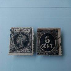Sellos: 2 SELLOS 1898-99 ALFONSO XIII E IMPUESTO DE GUERRA. Lote 210709265