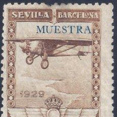 Sellos: EDIFIL 448MA PRO EXPOSICIONES DE SEVILLA Y BARCELONA 1929 (VARIEDAD...MUESTRA).CAT: 66 €. MNH**. Lote 210766726