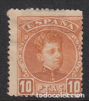 1901 SELLO NUM. 255 NUEVO CON FIJASELLOS Y SIN GOMA (Sellos - España - Alfonso XIII de 1.886 a 1.931 - Nuevos)