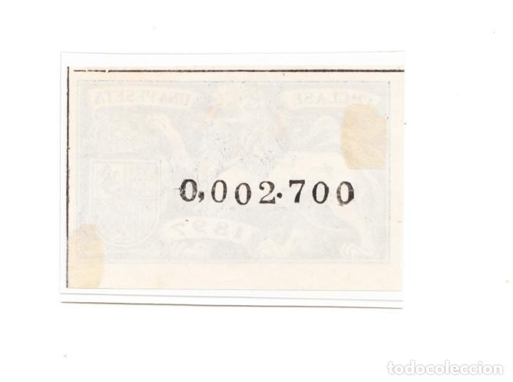 Sellos: SELLO FISCAL 12 A CLASE 1897 UNA PESETA AZUL - Foto 2 - 212942978
