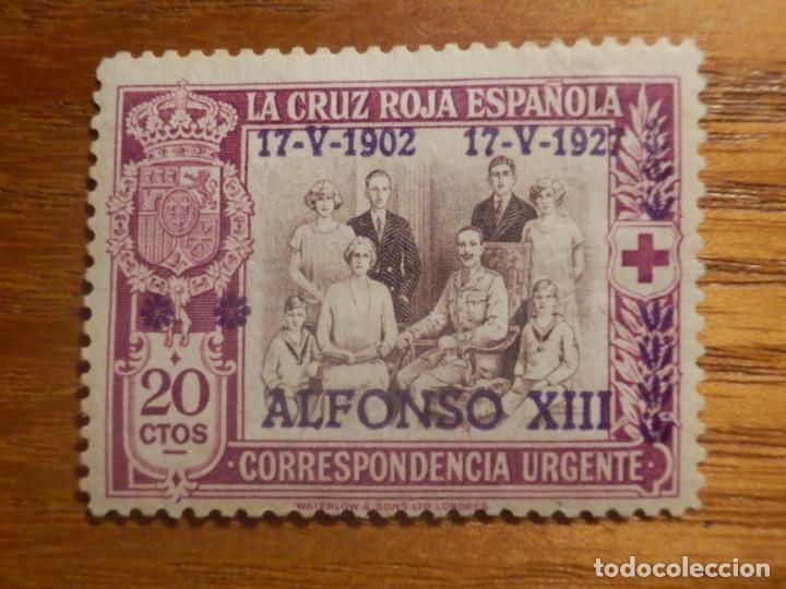 SELLO EDIFIL ESPAÑA Nº 362 - ALFONSO XIII - AÑO 1927 - 20 CTOS LILA - ANIVERSARIO JURA CONSTITUCIÓN (Sellos - España - Alfonso XIII de 1.886 a 1.931 - Nuevos)
