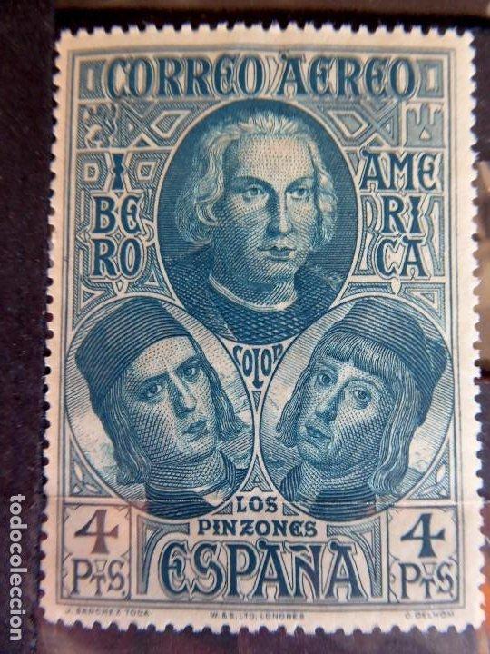 Sellos: SELL-14. DESCUBRIMIENTO DE AMERICA. AEREOS IBEROAMERICA. AÑO 1930. COMPLETA. EDIFIL 559/565. MNH - Foto 2 - 213827262