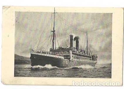 1914 PAQUEBOT DUTCH LINER SS TUBANTIA POSTCARD - RARA TARJETA MARCA PAQUEBOT TUBANTIA (Sellos - España - Alfonso XIII de 1.886 a 1.931 - Cartas)