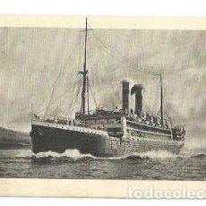 Sellos: 1914 PAQUEBOT DUTCH LINER SS TUBANTIA POSTCARD - RARA TARJETA MARCA PAQUEBOT TUBANTIA. Lote 215818362