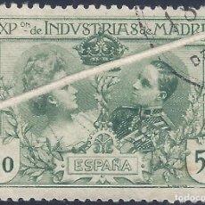 Sellos: EDIFIL SR4 EXPOSICIÓN DE INDUSTRIAS DE MADRID 1907 (VARIEDAD...GRAN FUELLE). NO CATALOGADO. LUJO.. Lote 215826548