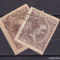 Francobolli: ALFONSO XIII PELÓN EDIFIL 219 MATASELLOS CARTERÍA VILLAVERDE DE PONTONES (SANTANDER).. Lote 216435107