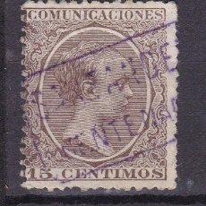 Francobolli: ALFONSO XIII PELÓN EDIFIL 219 MATASELLOS CARTERÍA PUENTENANSA (SANTANDER).. Lote 216437421