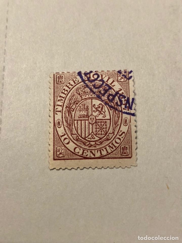 TIMBRE MÓVIL 1897 ALEMANY 48 USADO 10 CÉNTIMOS CARMÍN (Sellos - España - Alfonso XIII de 1.886 a 1.931 - Cartas)