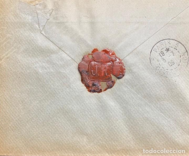 Sellos: ESPAÑA, CARTA CIRCULADA EN EL AÑO 1909 - Foto 2 - 217201193