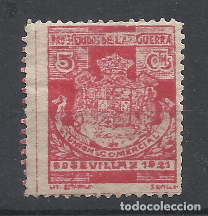 SEVILLA 1921 PRO HERIDOS DE LA GUERRA DE AFRICA 5 CTS NUEVO(*) (Sellos - España - Alfonso XIII de 1.886 a 1.931 - Nuevos)