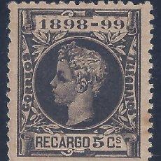 Francobolli: EDIFIL 240 ALFONSO XIII. IMPUESTO DE GUERRA 1898-1899. CENTRADO DE LUJO.VALOR CATÁLOGO: 29 €. MNH **. Lote 217591662