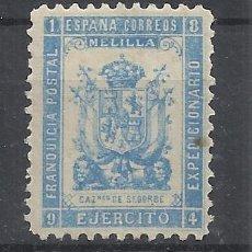 Francobolli: FRANQUICIA POSTAL 1894 EJERCITO EXPEDICIONARIO DE MELILLA CAZADORES DE SEGORBE NUEVO*. Lote 217596296