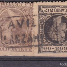 Timbres: ALFONSO XIII PELÓN EDIFIL 219 + 240 MATASELLOS CARTERÍA LANZAHITA (AVILA).. Lote 217820915