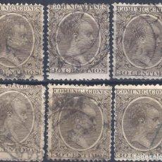 Sellos: EDIFIL 222 ALFONSO XIII. TIPO PELÓN. 1889-1901. LOTE DE 6 SELLOS. VALOR CATÁLOGO: 36 €.. Lote 218108588