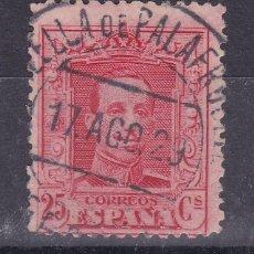 Sellos: LL3- ALFONSO XIII VAQUER EDIFIL 317 USADO CALELLA DE PALAFRUGELL (GERONA). Lote 218165418
