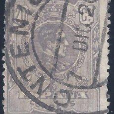 Sellos: EDIFIL 290 ALFONSO XIII. TIPO MEDALLÓN. AÑO 1920. MATASELLOS DE ONTENIENTE DE FECHA 7-DIC-1920.. Lote 218393575