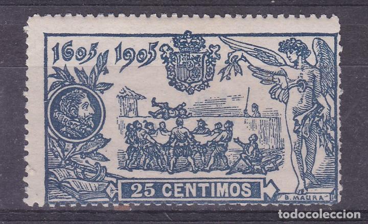 LL20-QUIJOTE 25 CTS EDIFIL 260. NUEVO. * LIGERA SEÑAL DE FIJASELLOS (Sellos - España - Alfonso XIII de 1.886 a 1.931 - Nuevos)