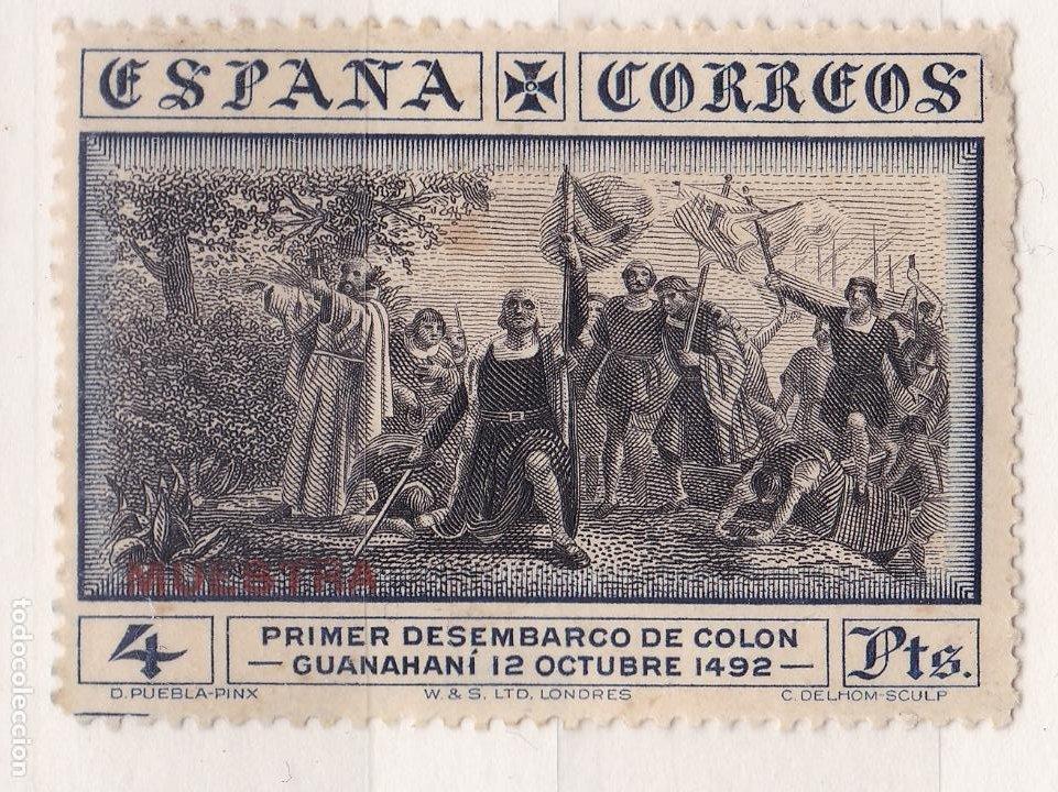 LL22- COLÓN EDIFIL 544 VARIEDAD MUESTRA ROJO , * CON FIJASELLOS . (Sellos - España - Alfonso XIII de 1.886 a 1.931 - Nuevos)