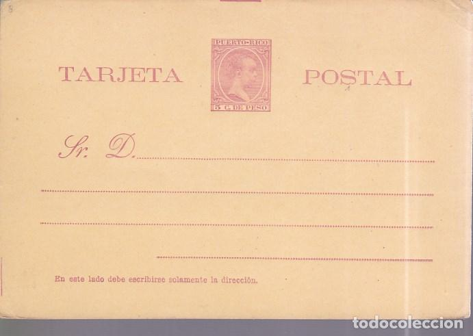 HP4-6- ENTERO POSTAL PUERTO RICO EDIFIL 6. NUEVO (Sellos - España - Alfonso XIII de 1.886 a 1.931 - Cartas)