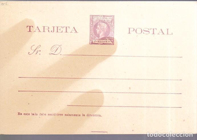HP4-6- ENTERO POSTAL PUERTO RICO EDIFIL 9. NUEVO. O ROTA (Sellos - España - Alfonso XIII de 1.886 a 1.931 - Cartas)