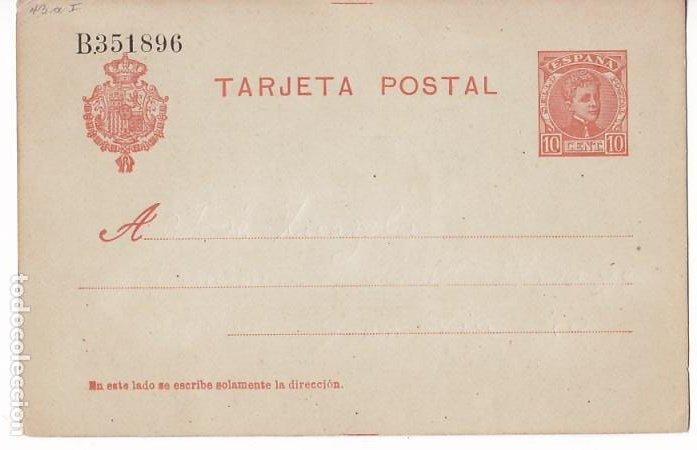 HP4-11-ENTERO POSTAL EDIFIL 45 NUEVO. (Sellos - España - Alfonso XIII de 1.886 a 1.931 - Cartas)