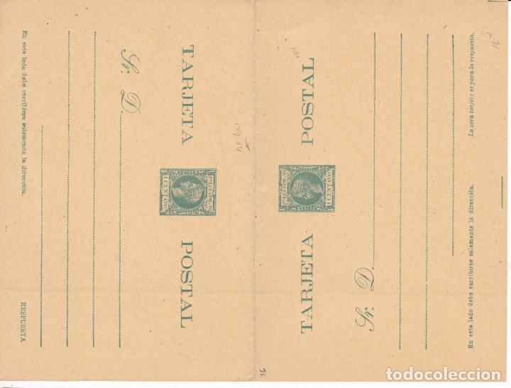 HP4-11-ENTERO POSTAL DOBLE PUERTO RICO EDIFIL 14 NUEVO. (Sellos - España - Alfonso XIII de 1.886 a 1.931 - Cartas)