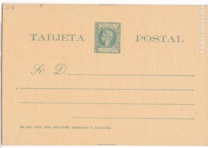 HP4-11-ENTERO POSTAL PUERTO RICO EDIFIL 10 NUEVO. (Sellos - España - Alfonso XIII de 1.886 a 1.931 - Cartas)