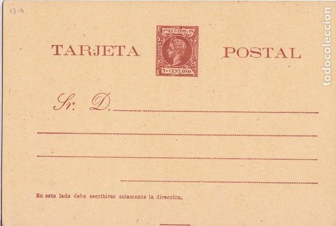 HP4-11-ENTERO POSTAL PUERTO RICO EDIFIL 12 NUEVO. (Sellos - España - Alfonso XIII de 1.886 a 1.931 - Cartas)