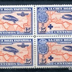Selos: EDIFIL 341. 15 CTS CRUZ ROJA, NUEVO SIN FIJASELLOS, EN BLOQUE DE 4. Lote 219273911