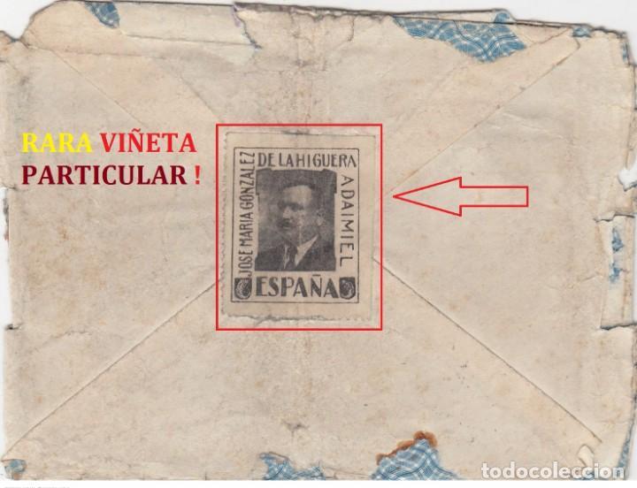 Sellos: DAIMIEL - CIUDAD REAL CARTA PUBLICITARIA 1929 - VIÑETA PARTICULAR Y SOBRE IMPRESO CON PERSONAJE.RARA - Foto 2 - 219755811
