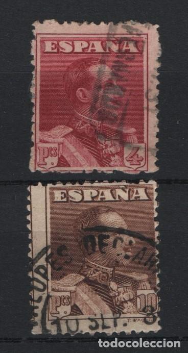 TV_001/ ESPAÑA 1922-30. EDIFIL 322/23, ALFONXO XIII, TIPO VAQUER (Sellos - España - Alfonso XIII de 1.886 a 1.931 - Usados)