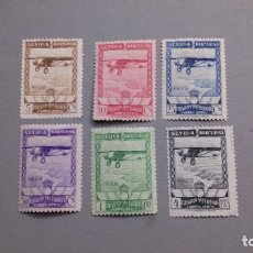 Sellos: ESPAÑA - 1929 - ALFONSO XIII - EDIFIL 448/453 - SERIE COMPLETA - MH* - NUEVOS - VALOR CATALOGO 158€. Lote 220080440