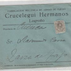 Sellos: SOBRE FABRICACIÓN MECÁNICA DE ARMAS DE FUEGO. CRUCELEGUI HERMANOS LOGROÑO. . Lote 175785048