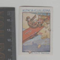 Sellos: LOTE H-SELLO VIÑETA PUBLICIDAD AÑO 1928 AGENCIA REPARTO IGUALADA BARCELONA AEREO AVION. Lote 245290030