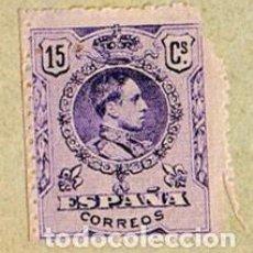 Sellos: SELLO 15 CÉNTIMOS ALFONSO XIII VIOLETA (1909/1922) - EDIFIL 270, ENGANCHADO EN SOBRE SIN CIRCULAR. Lote 220620175