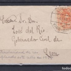 Sellos: CARTA.- ALFONSO XIII CON MATASELLOS AMBULANTE VIGO-MADRID 1928. Lote 220712320