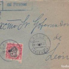 Sellos: FRONTAL DE CARLET A LEON CON HUERFANOS Nº 1 DEL 1/5/27. Lote 220712626