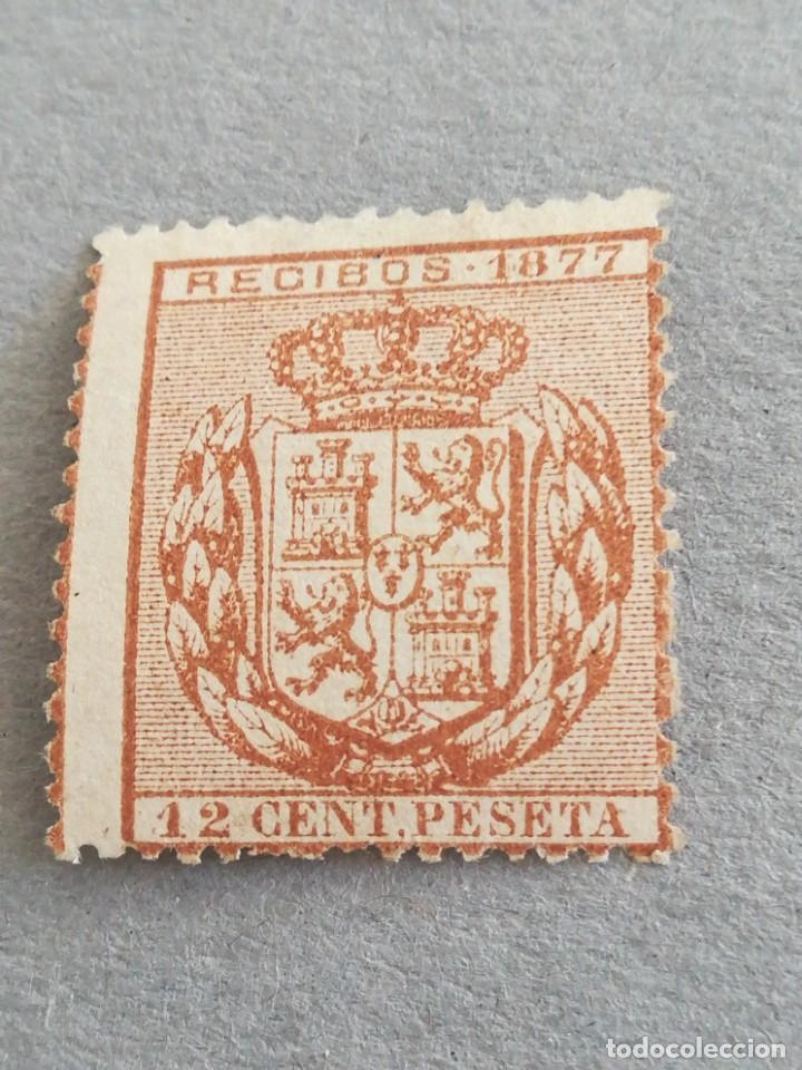 ANTIGUO SELLO ESPAÑA 12 CENT PESETA 1877 (Sellos - España - Alfonso XIII de 1.886 a 1.931 - Nuevos)