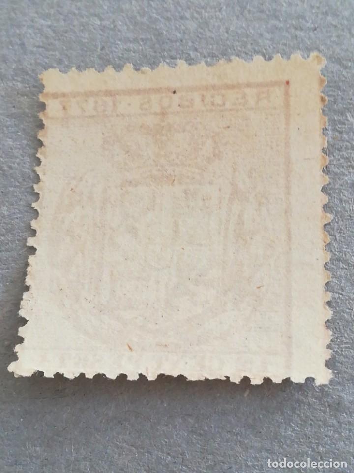 Sellos: Antiguo sello España 12 cent peseta 1877 - Foto 2 - 221121487