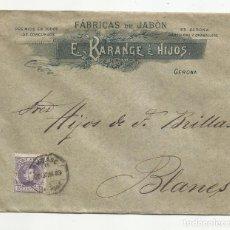 Sellos: CIRCULADA Y ESCRITA IMFORMES COMERCIALES 1903 DE GERONA A BLANES CON AMBULANTE GERONA PORT. Lote 221130051
