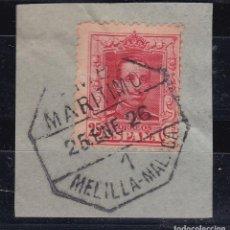 Sellos: CL12-35- ALFONSO XIII VAQUER MATASELLOS AMBULANTE MARITIMO 1 MELILLA- MALAGA. Lote 221262315