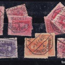 Sellos: CL12-35- ALFONSO XIII VAQUER MATASELLOS AMBULANTES MALAGA EXPRESO X 11 SELLOS. Lote 221262391