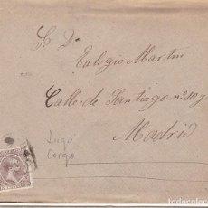 Sellos: F28-32- CARTA CASTRILLON 1898. MATASELLOS CARTERÍA CORGO (LUGO) . CONSERVA EL TEXTO EN INTERIOR. Lote 221327745