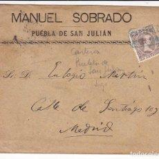Sellos: F28-33 CARTA 1899 MATASELLOS CARTERÍA PUEBLA SAN JULIAN (LUGO) . CONSERVA EL TEXTO EN INTERIOR. Lote 221328010