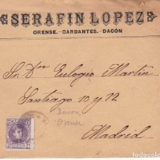 Sellos: F28-35- CARTA BARBANTES-DACON (ORENSE) 1904, CARTERÍA IP DACON. Lote 221328362
