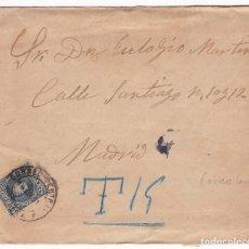 Sellos: F28-35- CARTA MORCUERA (SORIA) 1901, TASADA CORREO CENTRAL LISTA. Lote 221328408