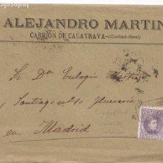 Sellos: F28-36- CARTA MATASELLOS CARTERÍA CARRION DE CALATRAVA (CIUDAD REAL) 1904. Lote 221328471