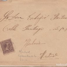 Sellos: F28-36- CARTA AYLLON MATASELLOS CARTERÍA CABANILLAS DE LA SIERRA (MADRID) 1901. Lote 221328516